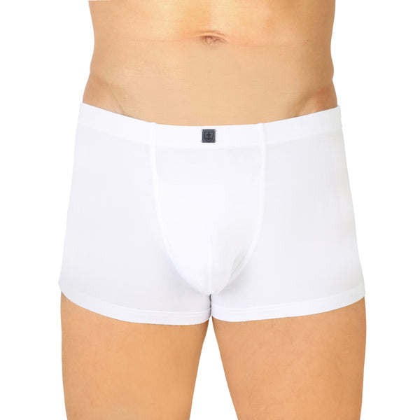 Shorty ceinture tricotée Coton Stretch BLANC