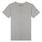 T-shirt col V Coton Stretch Gris Chiné