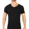 T-shirt col V Coton Stretch NOIR