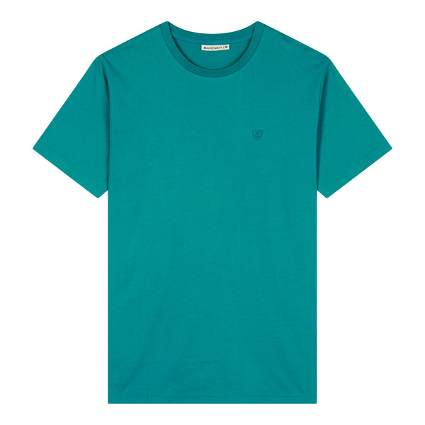 Ronde hals T-shirt Katoen Stretch wit