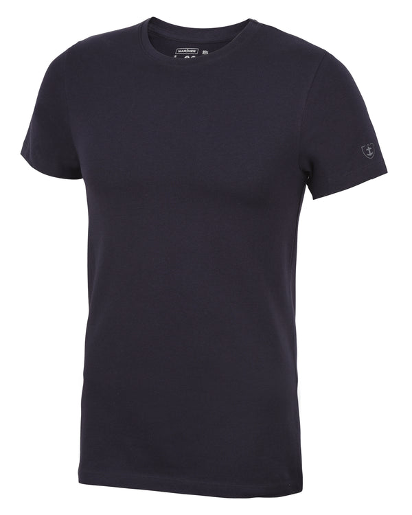 T-shirt col rond Coton Stretch marine