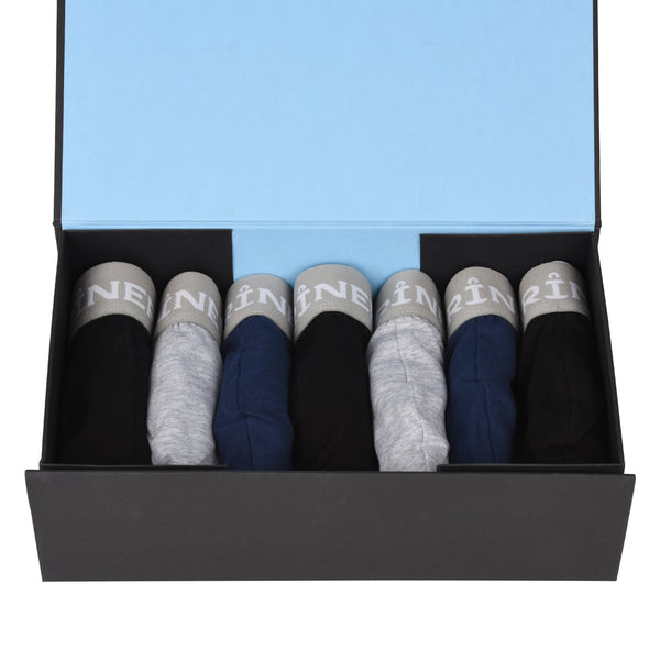 Lot de 7 boxers coton elasthanne - couleurs mixtes