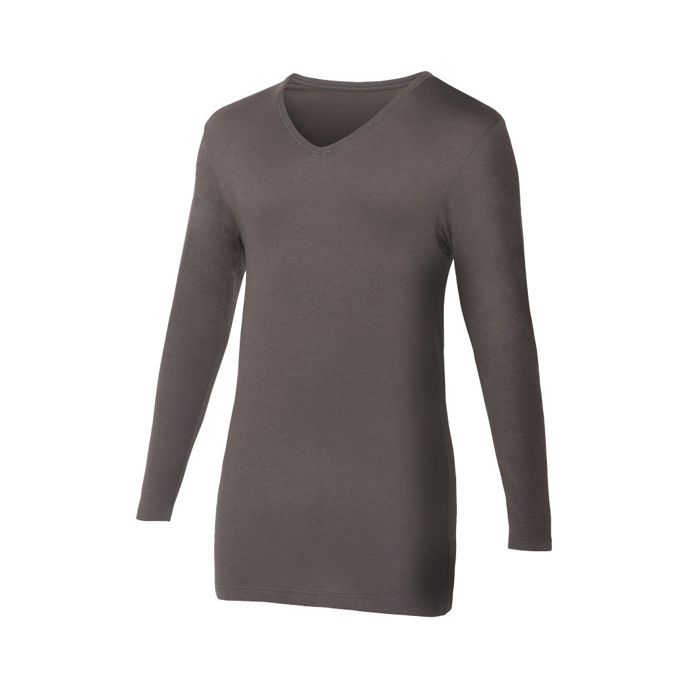 T-shirt manches longues en Microfibre Thermo Chauffante ANTHRACITE