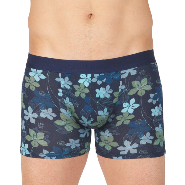 Shorty Micromodal Stretch Imprimé Fleurs MARINE