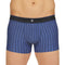 Shorty Rayé en Microfibre Stretch BLEU