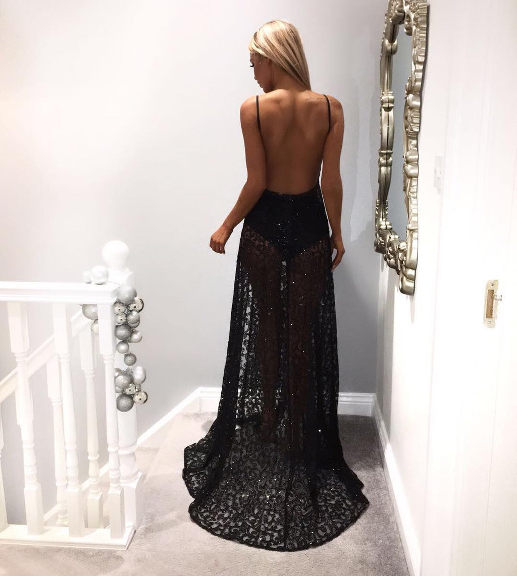 Evionne Sparkle Gown - Black
