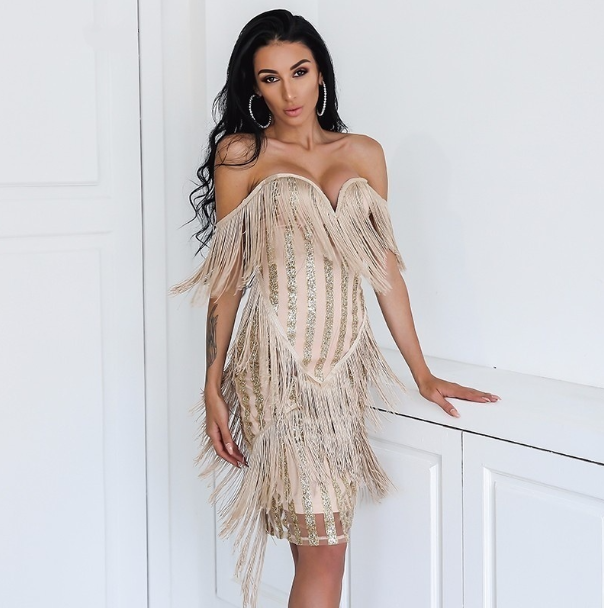 Kensington Tassel Dress - Gold