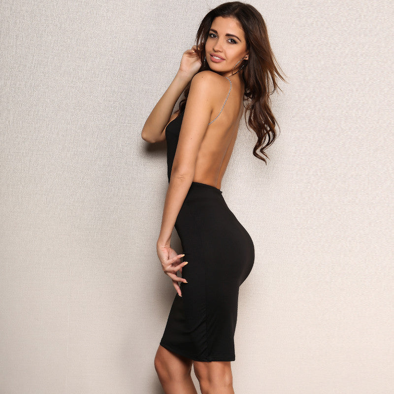 Venus Backless Crystal Dress
