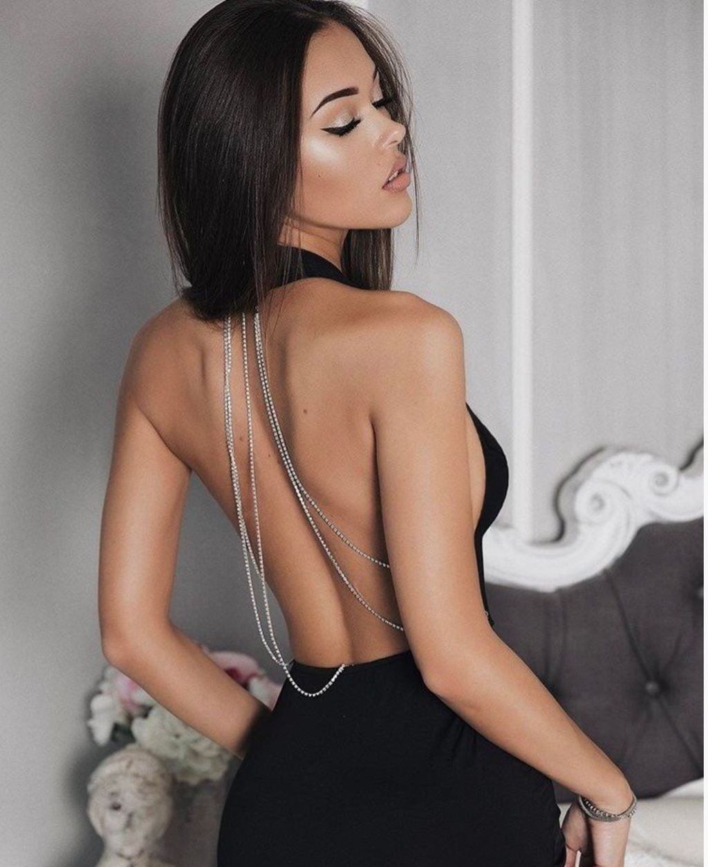 Marilyn Backless Crystal Dress