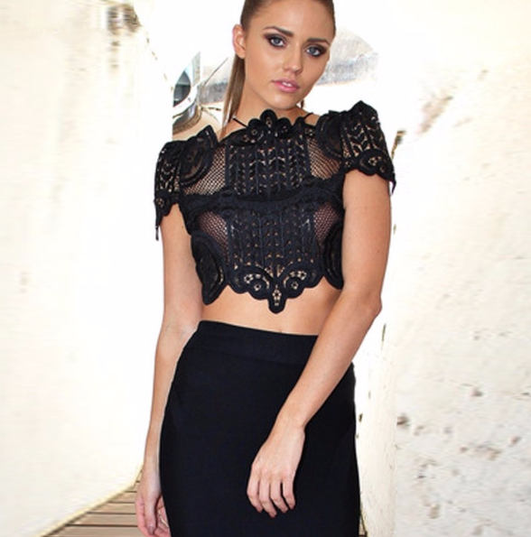 Estelle Lace Crop Top