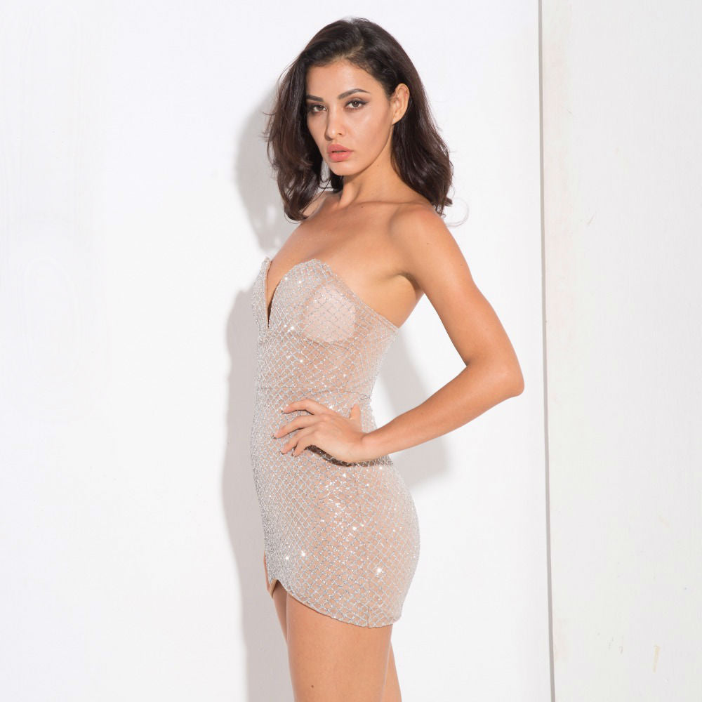 Zariah Diamond Dress - Silver