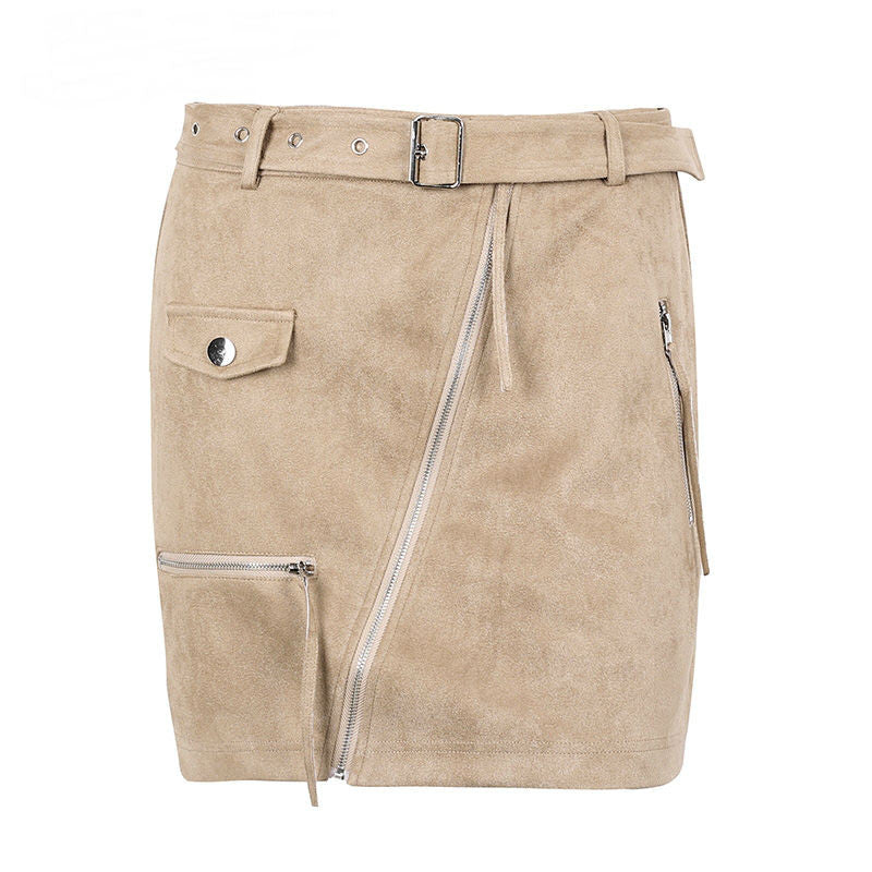 April Suede Mini Skirt
