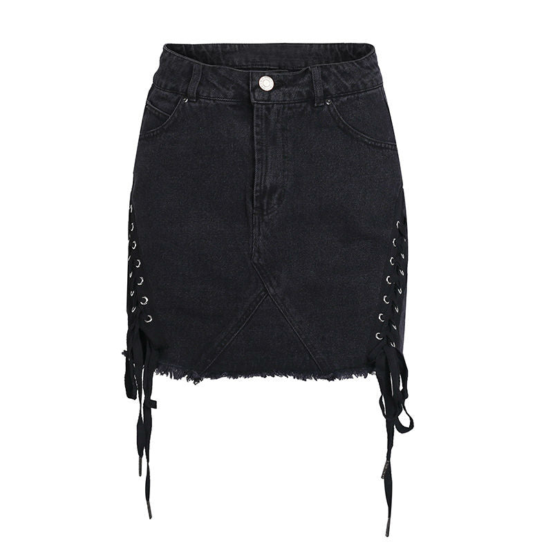 Rebel Lace Up Mini Skirt
