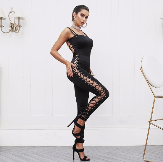 Celeste Lace Up Jumpsuit