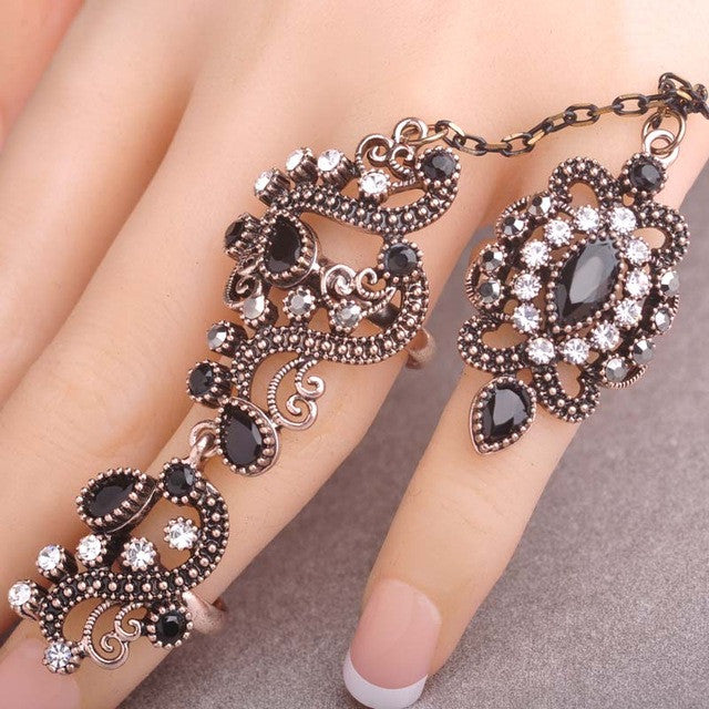 Exquisite Two Finger Rings