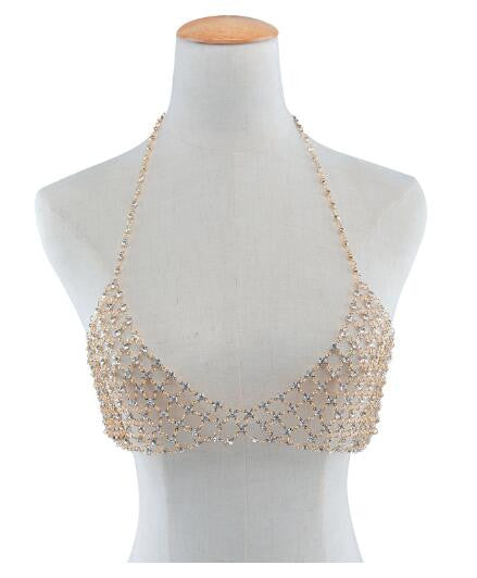 Great Gatsby Diamond Bralette & Choker