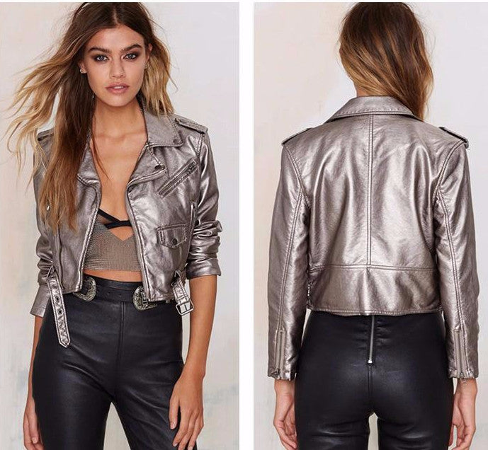 Suki Metallic PU Jacket