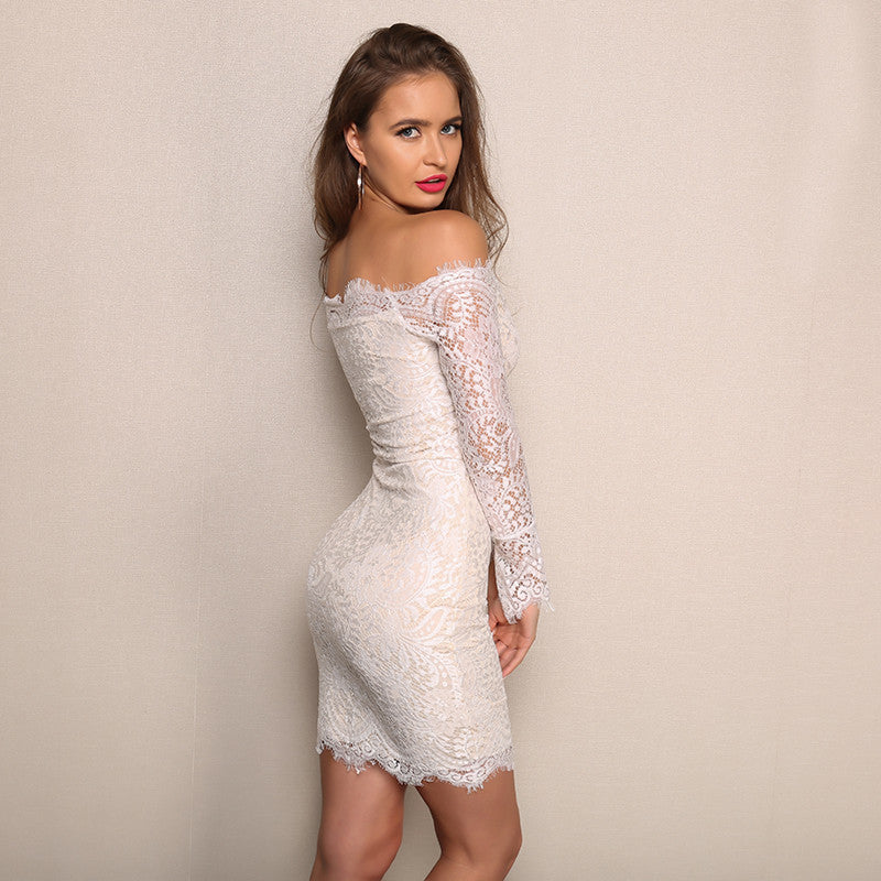 Ginevra Mini Lace Dress