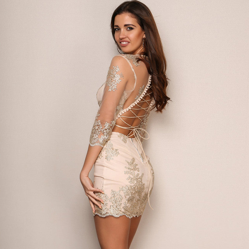 Marry The Night Bodycon Dress - Gold