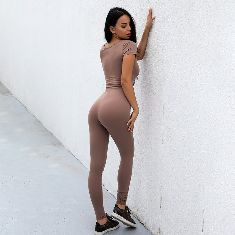 Kaden Bodycon Jumpsuit - Brown