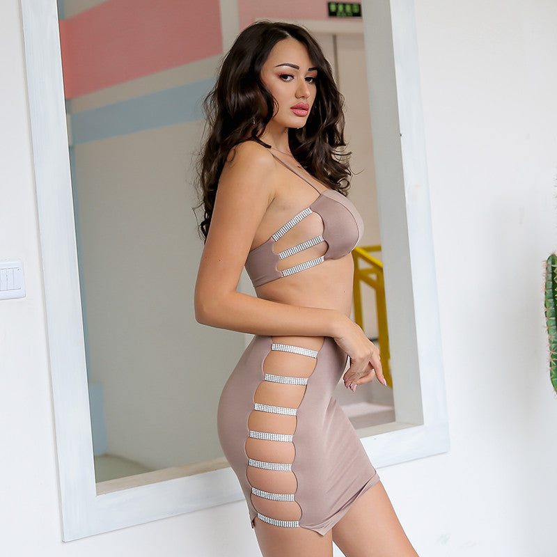 Naiya Diamante Set - Nude