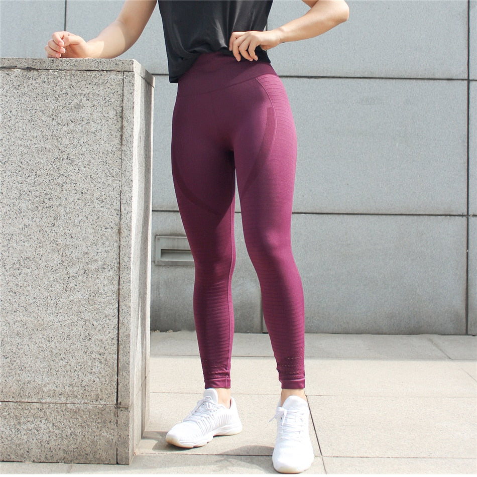 Aubrie Seamless Leggings - Red