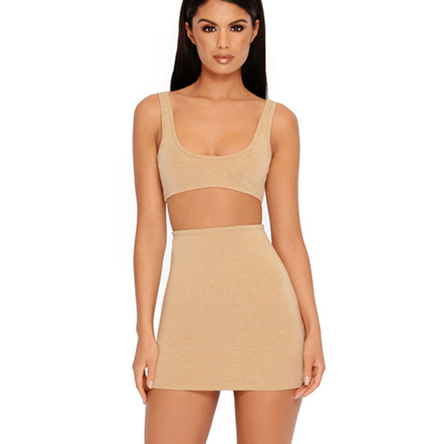 Skyla Double Layered Set - Khaki