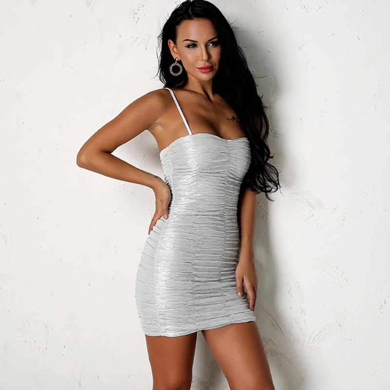 Sensational Ruched Dress - White