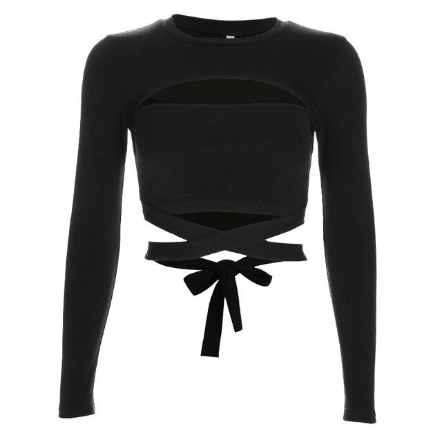 Alvera Crop Top - Black