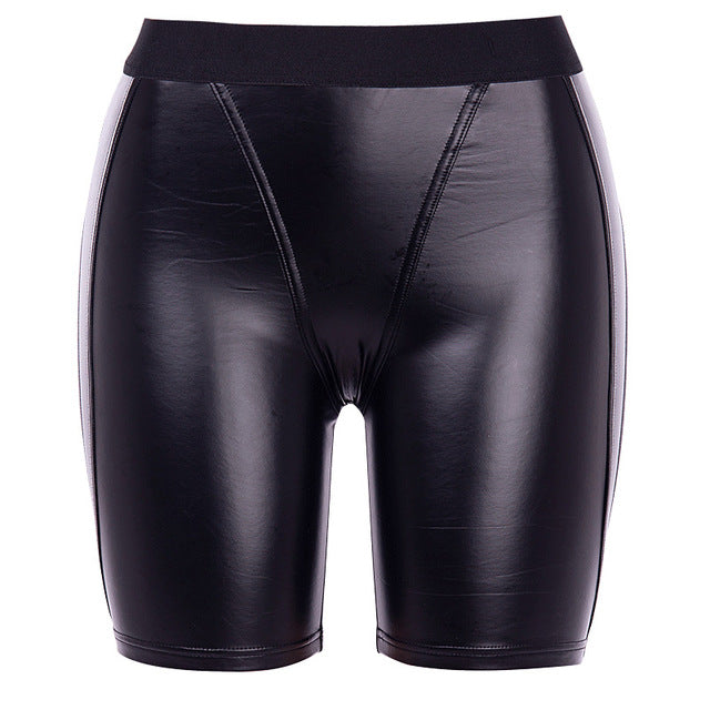 Bailey PU Biker Shorts - Black
