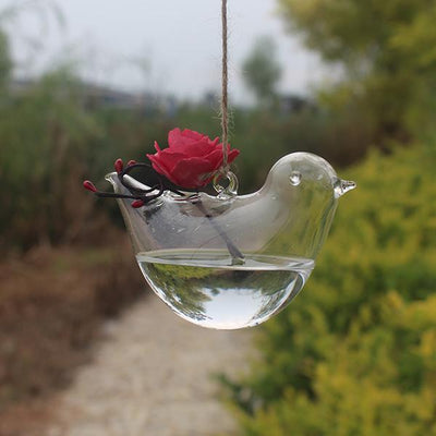 Bird Glass Vase