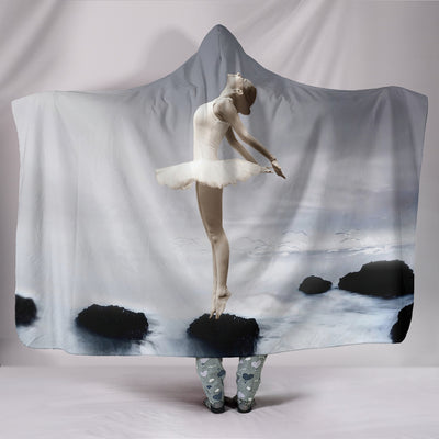 Awesome Ballet Hooded Blanket
