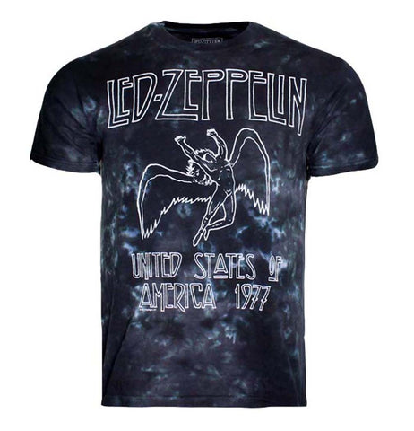 Led Zeppelin USA Tour 77 Tie Dye T-Shirt