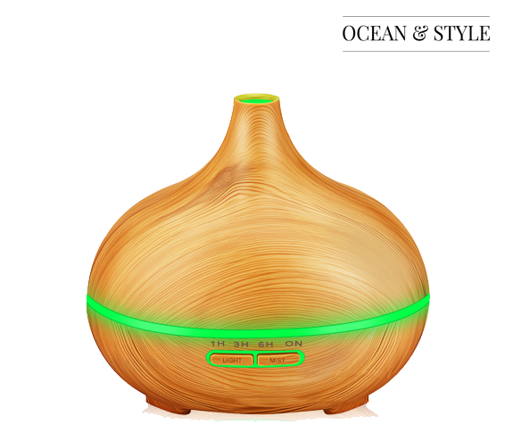 300ml Wood Color Essential Oil Diffuser