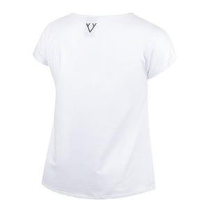 NEW CORE CAP SLEEVED TEE - WHITE