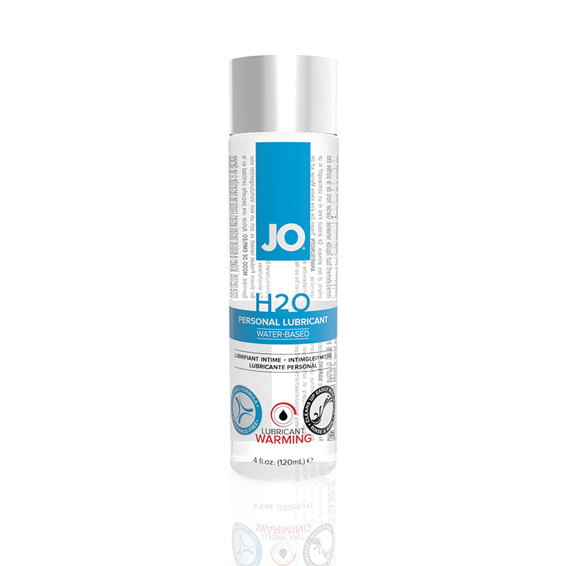 JO H2O Water Based Warming Lubricant 2 Ounces, 4 Ounces, and 8 Ounces