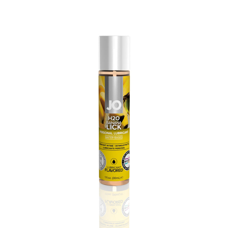 JO H2O Water Based Lubricant 1 Ounce and 4 Ounces  (Banana Lick)
