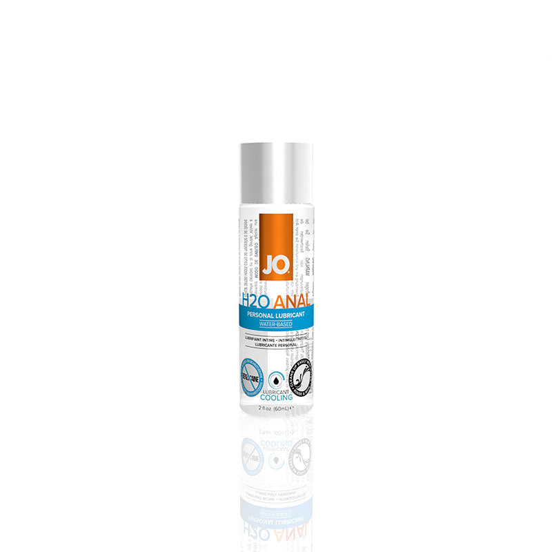 JO H2O Anal Cooling Water Based Lubricant 2 Ounces and 4 Ounces