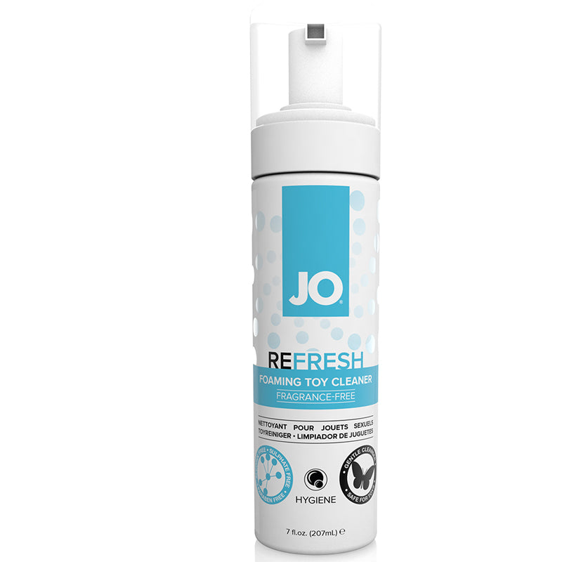 JO Refresh Foaming Toy Cleaner 1.7 Ounces and 7 Ounces  (Fragrance Free)