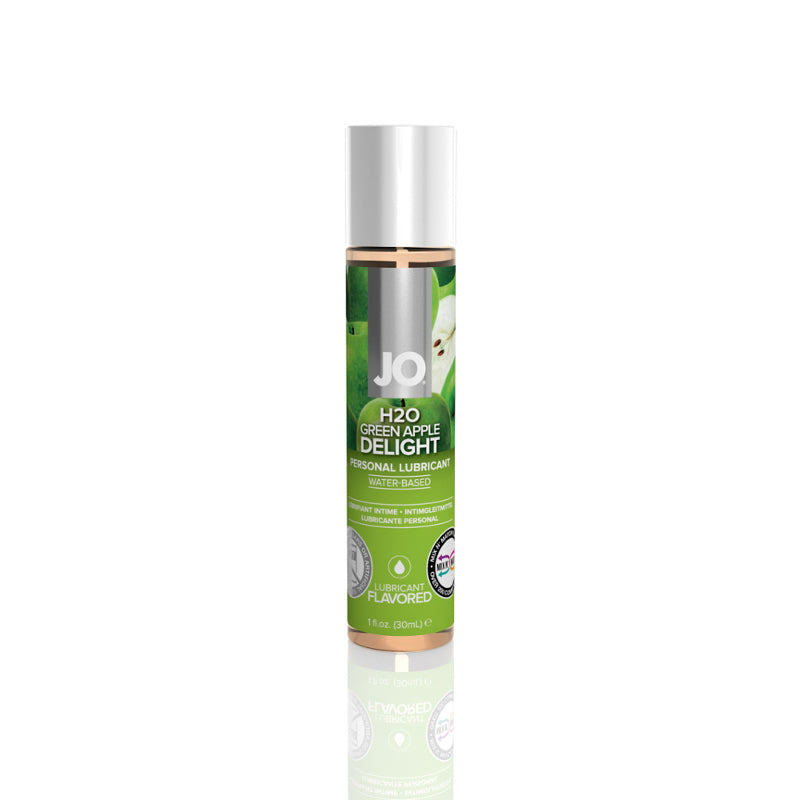 JO H2O Water Based Lubricant 1 Ounce and 4Ounces  (Green Apple)