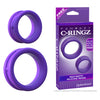 Fantasy C-Ringz Max Width Silicone Rings  (Black and Purple)