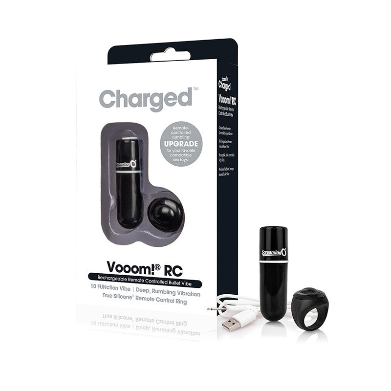 Screaming O Charged Vooom Remote Control Bullet  (Black, Blue, Pink, and Purple)
