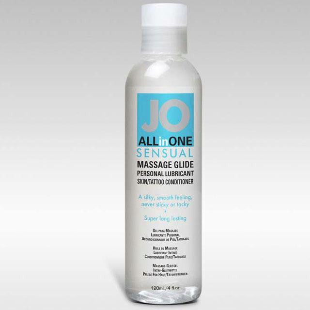 JO All-In-One Massage Glide 4 Ounces  (Fragrance Free)