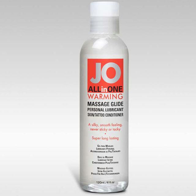 JO All-In-One Massage Glide 4 Ounces  (Warming)