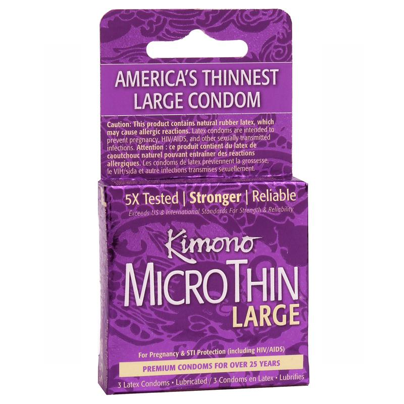 Kimono Micro Thin Large Condoms 3 Pack or 12 Pack
