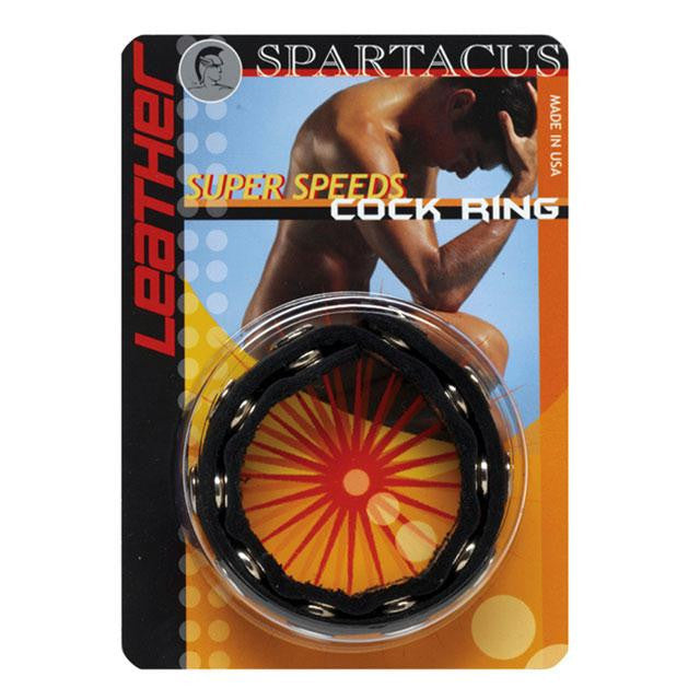 Spartacus Leather Super Speeds Cock Ring  (Black)