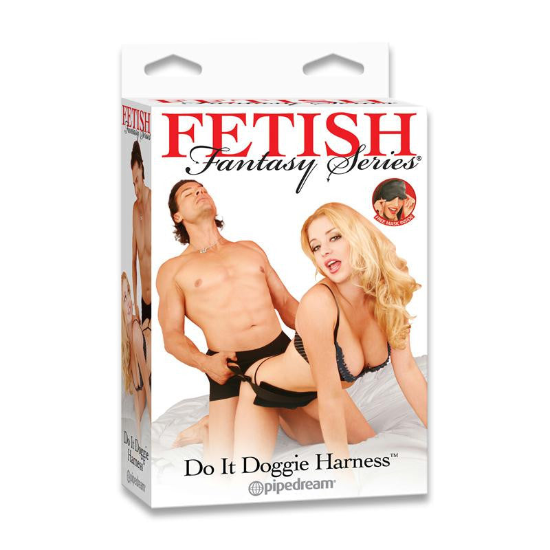 Fetish Fantasy Do It Doggie Harness  (Black)