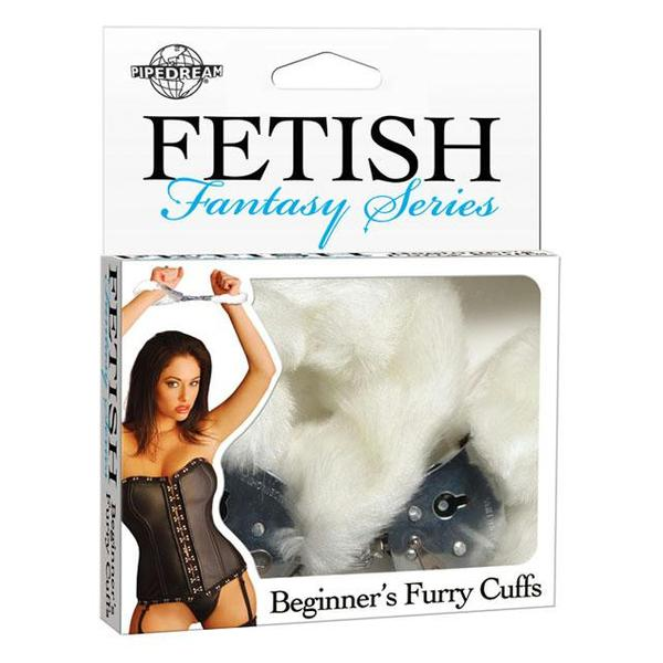 Fetish Fantasy Beginners Furry Cuffs  (Black, Red, and White)