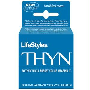 Lifestyles THYN Condoms 3 Pack