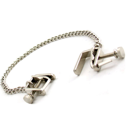H2H Nipple Clamps Press With Chain (Chrome)